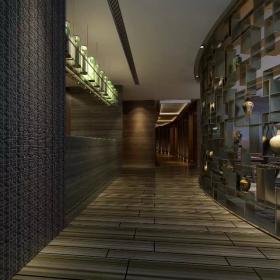 会所室内走廊效果图
