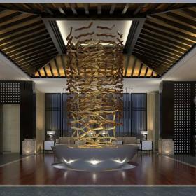 中式風格溫泉旅館裝修圖片