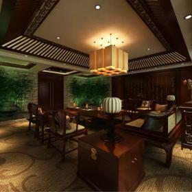 中式辦公室吊頂設計圖