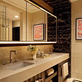 衛生間大理石瓷磚搭配設計