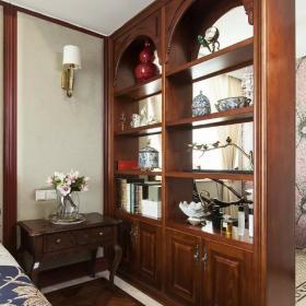 美式臥室博古架圖片