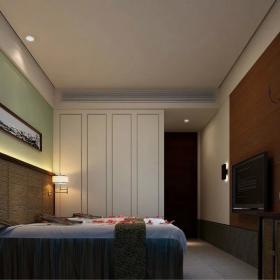 中式溫泉旅館裝修效果圖