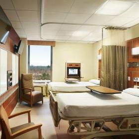 医院装修效果图之病房双人间