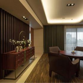 餐廳現代中式家裝窗戶效果圖