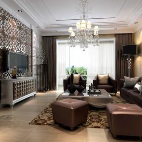 美式風格簡約客廳飄窗設計