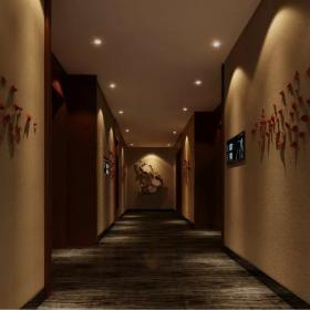 時尚火鍋店走廊設計圖片