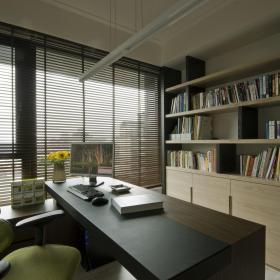 現代簡約四居室書房設計
