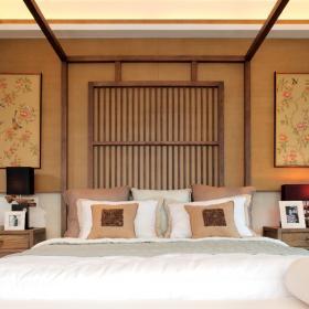 卧室中式壁画效果图