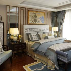 美式风格卧室床头背景墙