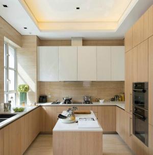 117平現代風格別墅室內設計廚房效果圖
