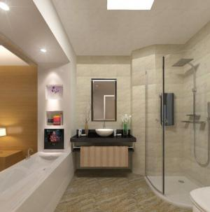 衛生間 現代賓館簡單裝修效果圖