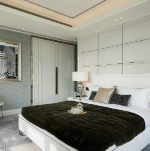 現代美式風格四居室裝飾臥室效果圖