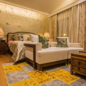 127平新中式风格卧室装饰设计