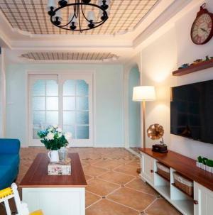 浪漫地中海二居装修客厅图