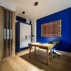 152平藍白格調書房裝修效果圖