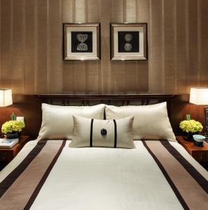 120平新中式风格家装设计卧室效果图
