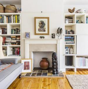 客厅天然木地板,清新怡人