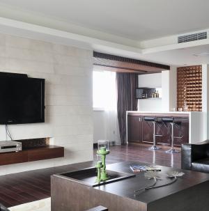現代簡約別墅室內設計客廳圖片