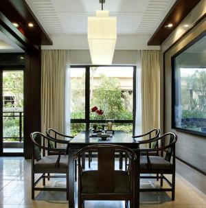 120平新中式风格家装设计餐厅图片