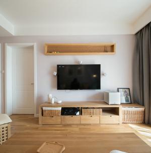 简约风格设计客厅背景墙图