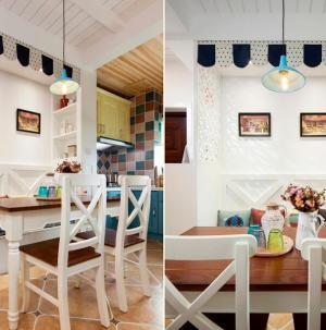 浪漫地中海二居装修餐厅图
