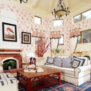 美式乡村别墅客厅效果图展示