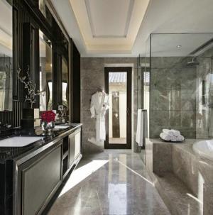 124平中式典雅精致別墅裝修衛生間圖片