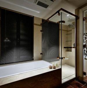 127平精致美式风格卧室卫生间设计