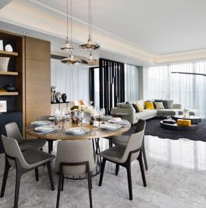 121平现代美式风格家装设计餐厅效果图
