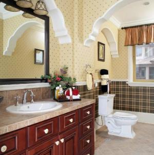 美式田園衛生間浴室柜設計風格