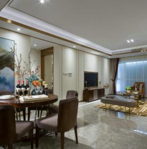 简约现代大气家装三居室餐厅客厅效果图