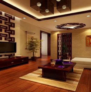 最新中式风格大气别墅客厅电视背景墙效果图