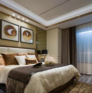 简约现代大气家装三居室卧室效果图展示