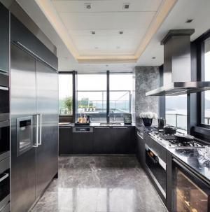 121平现代美式风格厨房装饰设计
