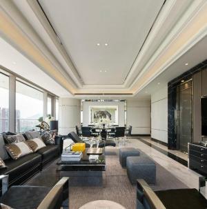現代美式風格四居室裝飾客廳效果圖