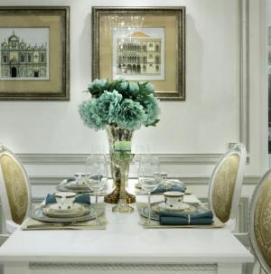 137平欧式奢华舒适餐厅装饰设计效果图