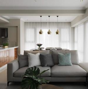 温馨时尚简约风小户型客厅吧台设计