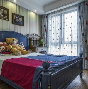 復古美式風格臥室裝飾效果圖