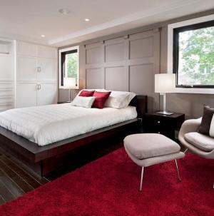 84平现代简约卧室装饰效果图
