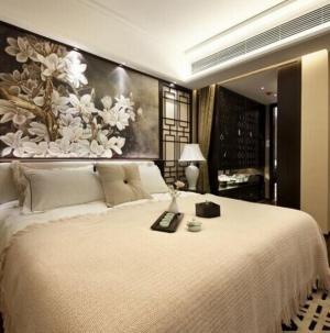 典雅独特现代中式三居装修卧室效果图