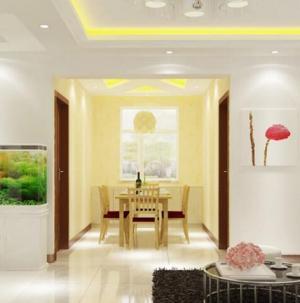 130平现代简约风格餐厅客厅装饰设计