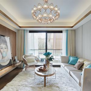 109平时尚摩登设计客厅效果图