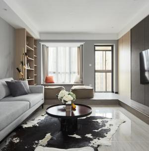 110平现代简约风格家装设计客厅效果图
