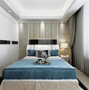 102平宜家风格装饰卧室效果图