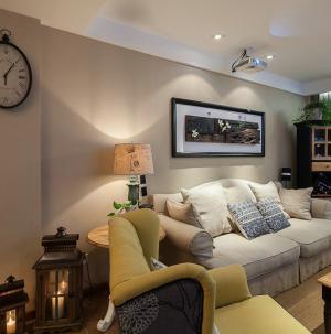 中美混搭风格客厅装修设计