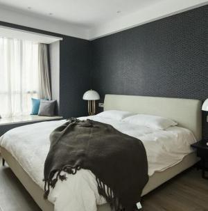 110平现代简约风格家装设计卧室效果图