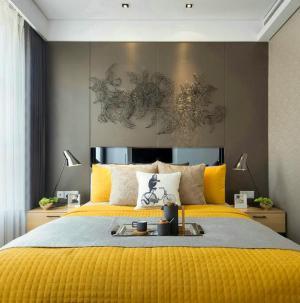 117平现代风格别墅室内设计卧室效果图