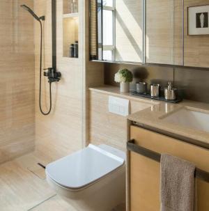 117平现代风格别墅室内设计卫生间效果图