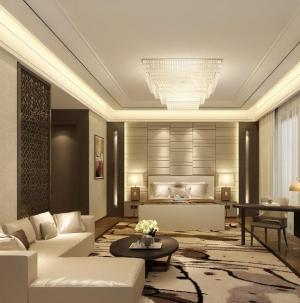 136平新中式风格家装卧室效果图