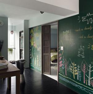 室内涂鸦墙效果图